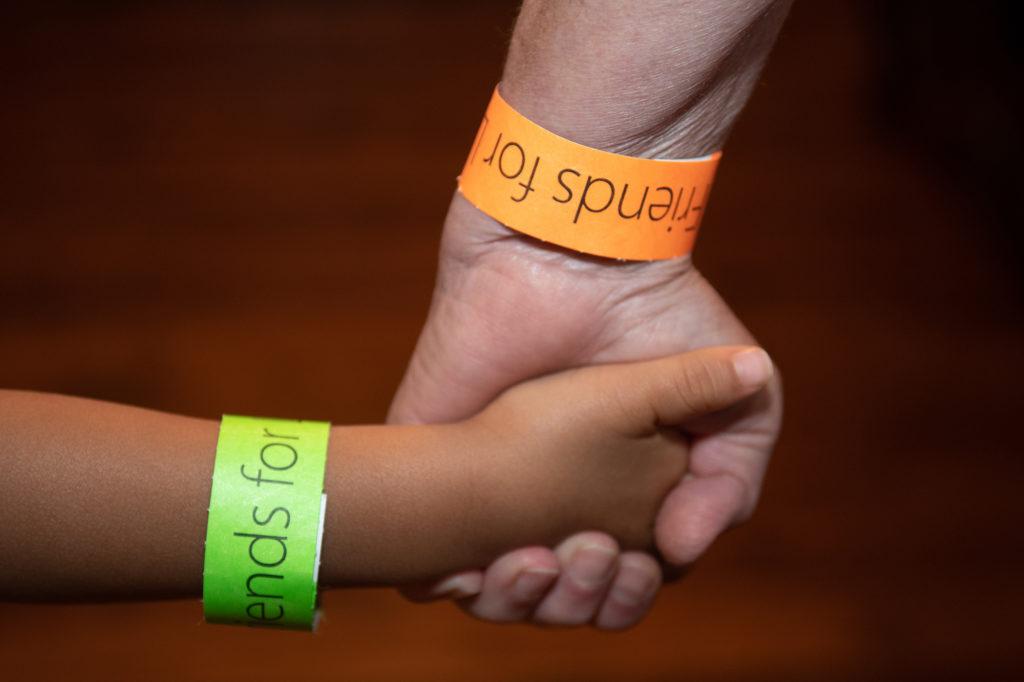 Orange and Green Bracelets - mom and child