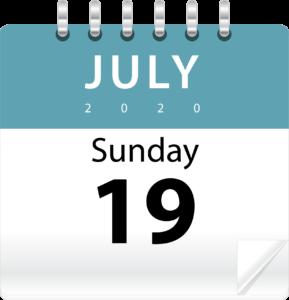 Sun July 19